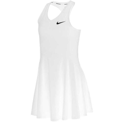 Nike Court Pure Girl's Tennis Dress White