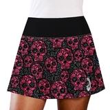 LacoaSports Pink Skulls Women's Tennis Skirt