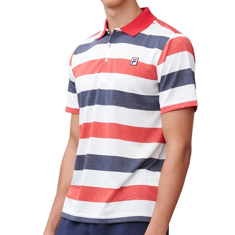 dcddf6b3 Fila Heritage Striped Men's Tennis Polo. FILA - Item #TM181B78622