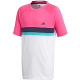 Adidas Club Color Block Boy's Tennis Tee