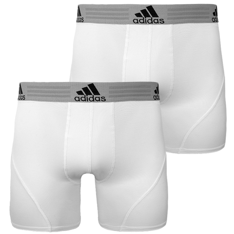 fc64a3816fc5 Adidas Performance Climalite 2 Pack Mens Boxer Brief White white