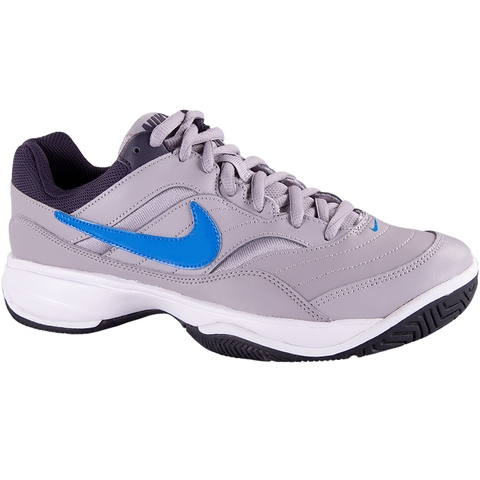 29772c01987 Nike Court Lite Men s Tennis Shoe Grey blue