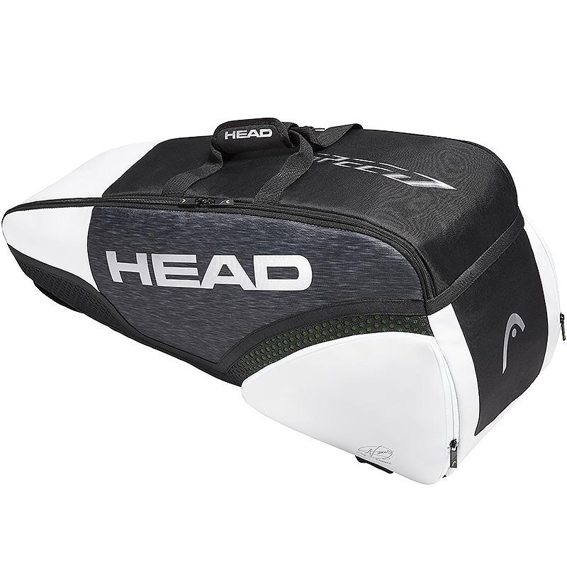 Head Djokovic 6r Combi Tennis Bag Black White