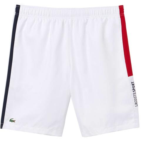 557b7208f63e Lacoste Woven 7 Men s Tennis Short White navy