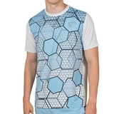 Athletic Dna Mesh Back Hex Mens Tennis Crew