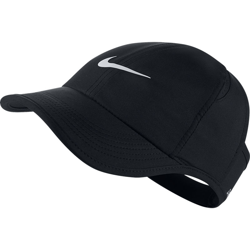 8def83a96e1 Nike Featherlight Women s Tennis Visor Plus Black