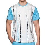 Athletic Dna Falling Lines Mesh Back Men's Tennis Crew