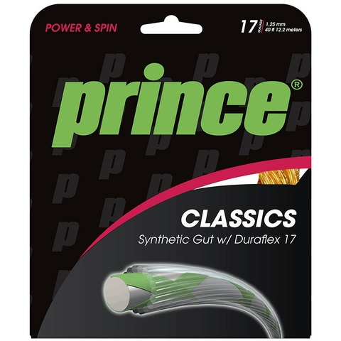 Prince Syn Gut Duraflex 17 Gold Tennis String Set