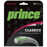 Prince Syn Gut Duraflex 16 Black Tennis String Set