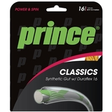 Prince Syn Gut Duraflex 16 Tennis String Set Gold
