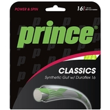 Prince Syn Gut Duraflex 16 Tennis String Set Yellow