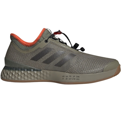 fecc8c78e6 Adidas Adizero Ubersonic 3 Citified Mens Tennis Shoe Khaki/orange