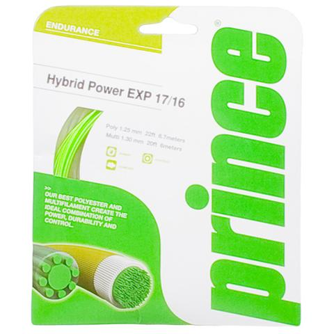 Prince Hybrid Power Exp 17/16 Green/Natural Tennis String Set