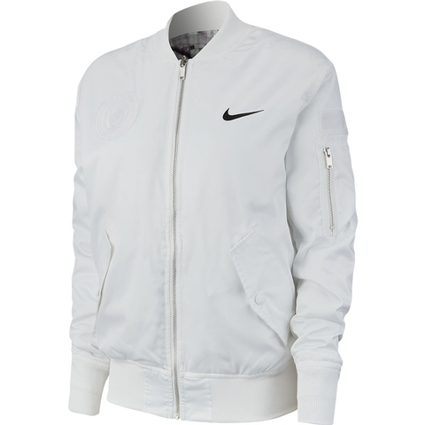 Nike Court Slam Men's Tennis Jacket White