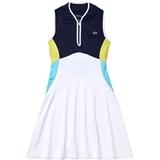 Lacoste Colorblock Zipper Placket Women's Tennis Dress