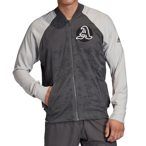 puñetazo Impotencia maleta  Adidas Prime Blue Men's Tennis Jacket Grey