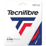 Tecnifibre X-One Biphase 17 Tennis String Set - Red