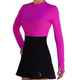 Lacoasports Upf Long Sleeve Women's Tennis Crop