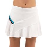 Lucky In Love Stripe Asymmetrical Girls ' Tennis Skirt