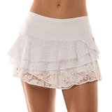 Lucky In Love Stripe Lace Rally Women's Tennis Skirt