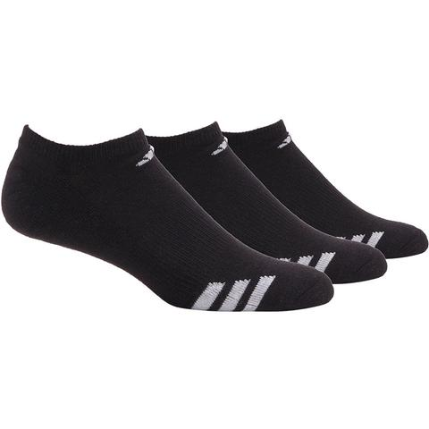 Adidas Cushioned 3- Pack No Show Men's Tennis Sockswhite