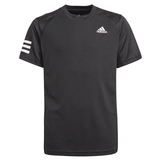 Adidas Club 3 Stripes Boys ' Tennis Tee