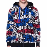 Hydrogen Graffiti Full Zip Men's Tennis Hoodie