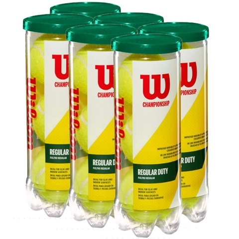 Wilson Championship Regular Duty 6 Can Pack Tennis Balls