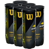 Wilson US Open Extra Duty 6 Can Pack Tennis Balls