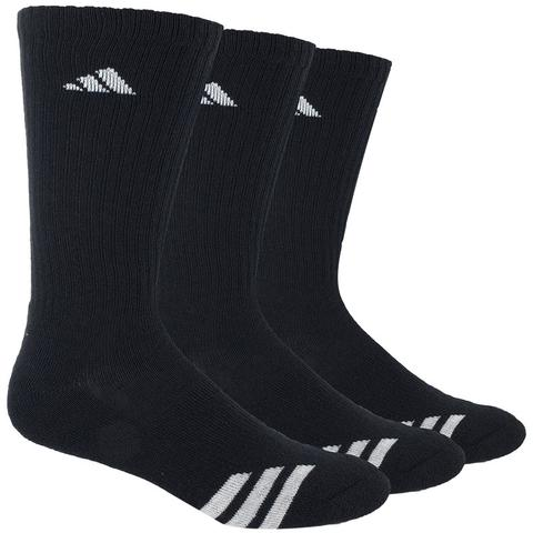 Adidas Striped 3- Pack Crew Juniors Tennis Socks
