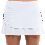 Lucky In Love Ruched Tier Women's Tennis Skirt