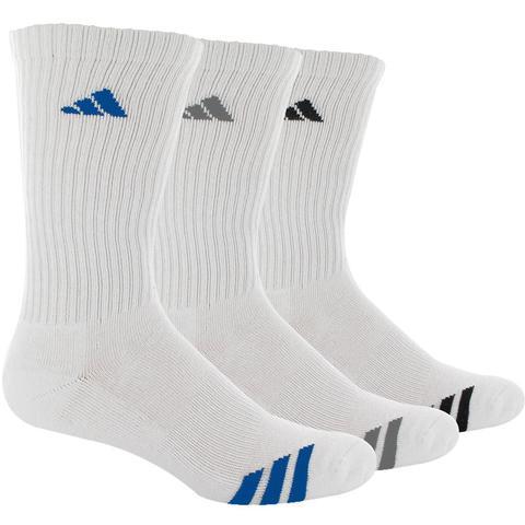 Adidas Striped 3- Pack Crew Junior's Tennis Socks