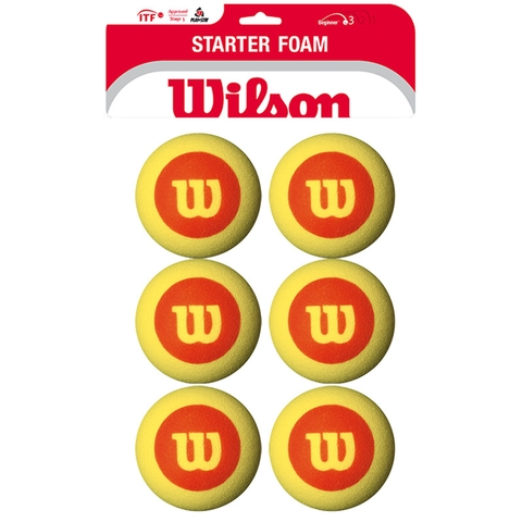 Wilson Us Open Foam Balls 6 Pack Tennis Balls