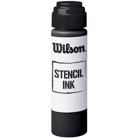 Wilson Tennis Raquet Stencil Ink - Black