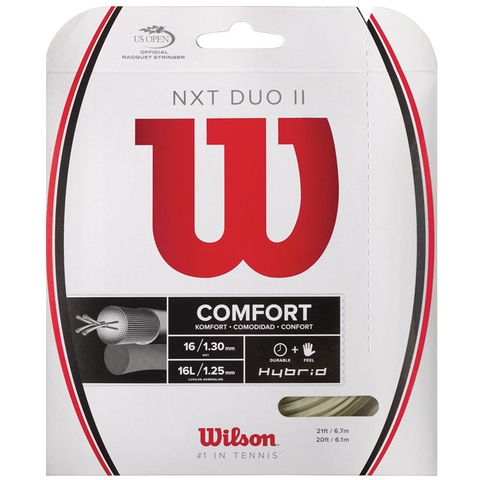 Wilson Nxt Duo Ii 16l/16 Tennis String Set