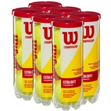 Wilson Championship Extra Duty 6 Can Pack Tennis Balls