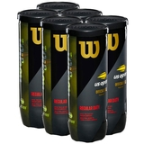 Wilson US Open Regular Duty 6 Can Pack Tennis Balls - 3 Ball Can x 6
