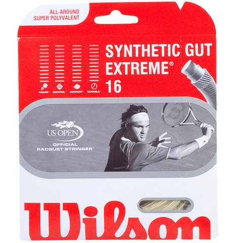 Wilson Syn Gut Extreme 16 Tennis String Set