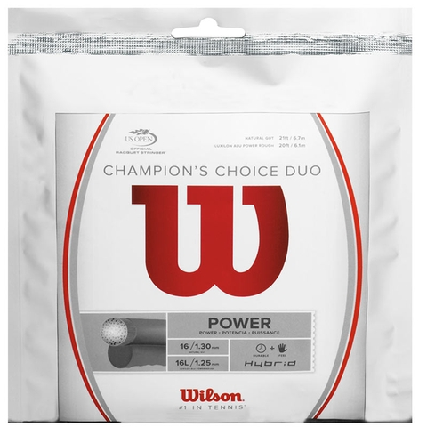 Wilson Champions Choice 16/16l Tennis String Set
