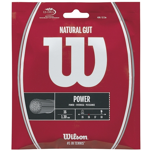 Wilson Natural Gut 16 Tennis String Set