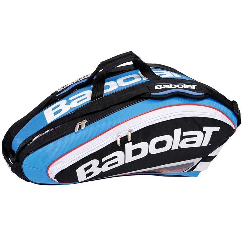 babolat team 9 pack tennis bag black blue