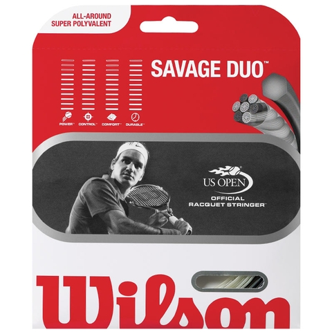 Wilson Savage Due 16/16 Tennis String Set