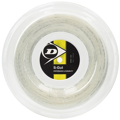 Dunlop Synthetic Gut 17 Tennis String Reel - White