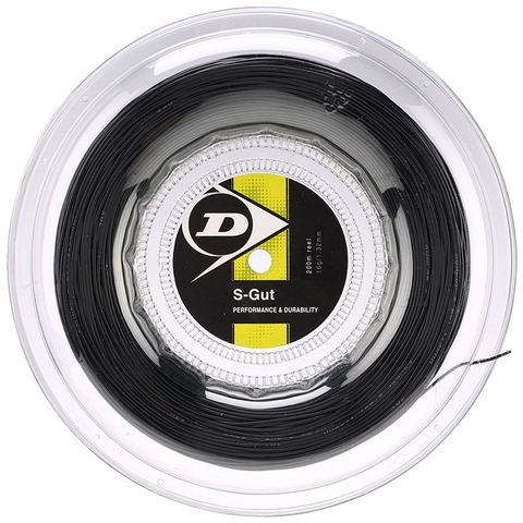 Dunlop Synthetic Gut 17 Tennis String Reel - Black