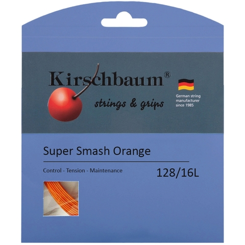 Kirschbaum Super Smash Orange 1.28 Tennis String Set - Orange