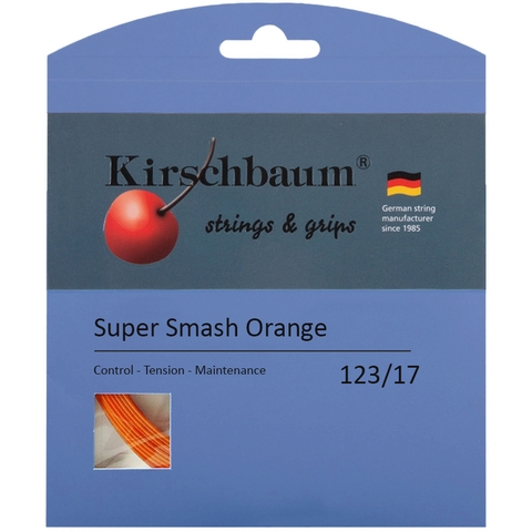 Kirschbaum Super Smash Orange 1.23 Tennis String Set - Orange