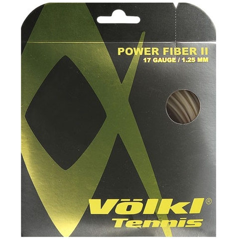 Volkl Power Fiber Ii 17 Natural Tennis String Set
