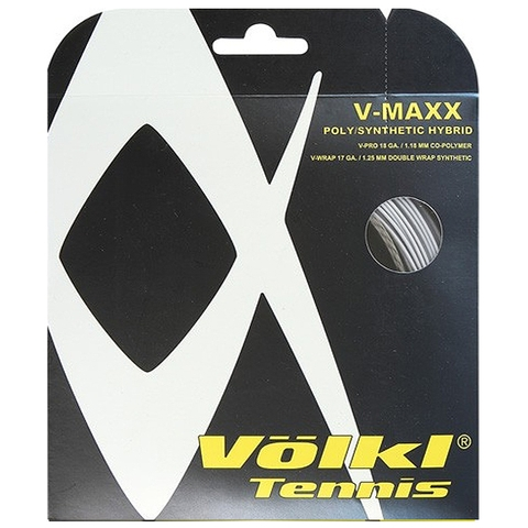 Volkl V- Maxx 17 Tennis String Set Silver/Black