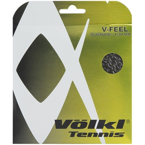 Volkl V- Feel 16 Tennis String Set - Black/Silver