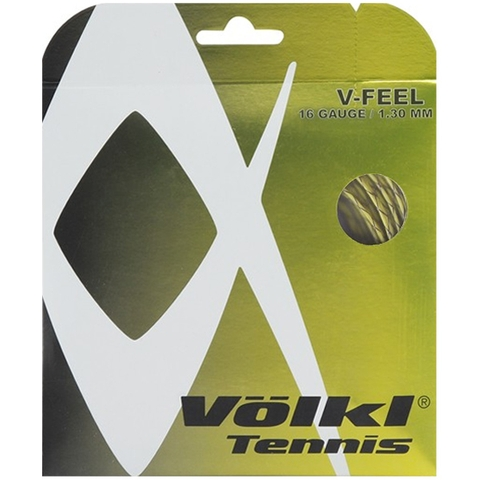 Volkl V- Feel 16 Tennis String Set - Yellow/Black